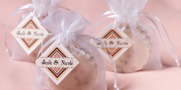homemade soap with custom labels