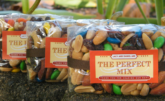 Wedding Gift Bag Snacks : The Perfect Mix Evermine Blog