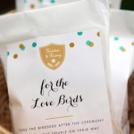Bird Seed Wedding Favors from My Own Ideas blog #evermine #favor #spring #summer #wedding