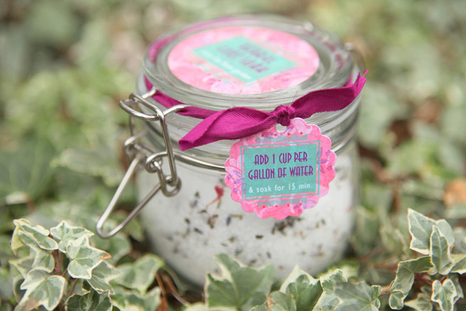 Herbal Foot Soak from My Own Ideas blog #homemade #diy #bath #gift #label #packaging #soothing