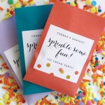 Ice Cream Party Sprinkle Favors from My Own Ideas blog #party #shavuot #dessert #favor #packaging #label
