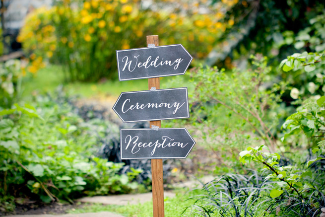 Printable sign reception decoration outdoor backyard chalkboard