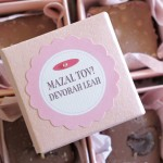 Bat Mitzvah Favors from My Own Ideas blog #birthday #party #favor #chocolate #packaging #label