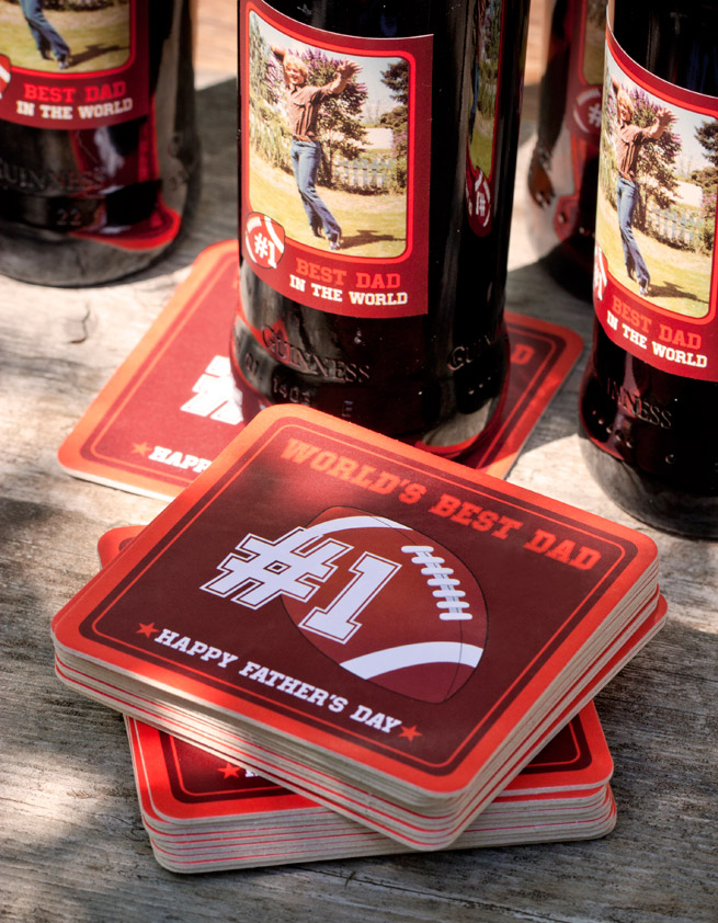 World's Best Dad Coasters #fathersday #football #personalized