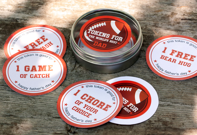 Father's Day Beer + Free Printables from My Own Ideas blog #football #beer #coasters #labels #printables