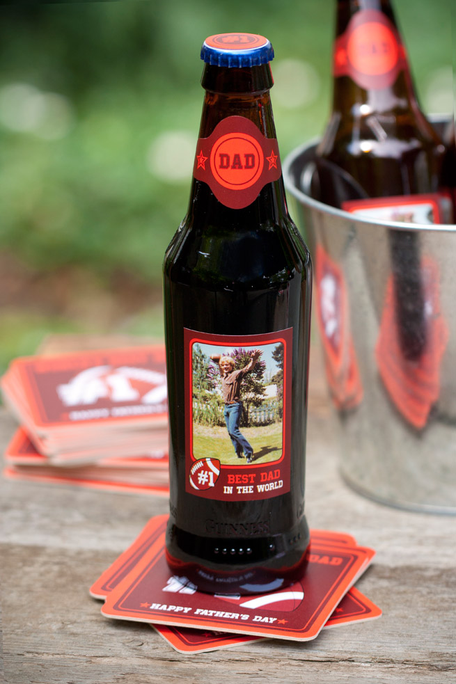 Father's Day Beer + Free Printables from My Own Ideas blog #football #beer #coasters #labels