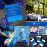 Wedding Inspiration: Henna #blue #stationery #invite #favor #labels