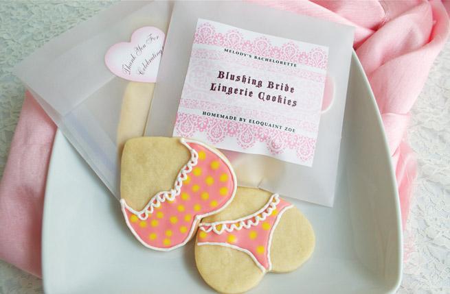 Lingerie Cookies recipe from My Own Ideas blog #wedding #bachelorette #bride #lingerie #cookies #recipe #baking #favor #diy