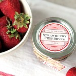 Strawberry Freezer Jam recipe from My Own Labels #canning #preserves #labels