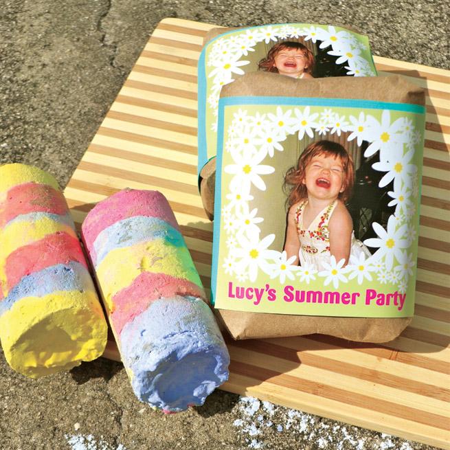 Homemade Sidewalk Chalk from My Own Ideas blog #diy #craft #kids