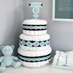 Diaper Cake from My Own Labels blog #baby #shower #decoration #diy