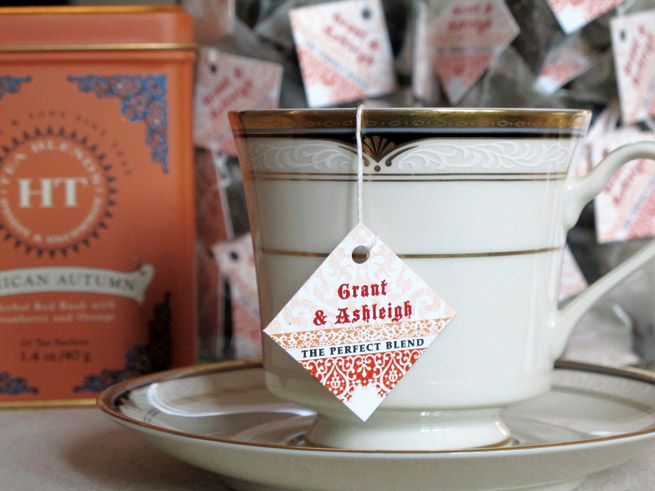 Autumn Wedding Tea Favors from My Own Ideas blog