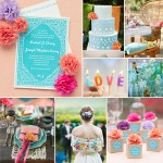Mai Li Wedding Inspiration from Evermine #stationery #sky #blue #pink #peach #boho #outdoor #summer #spring