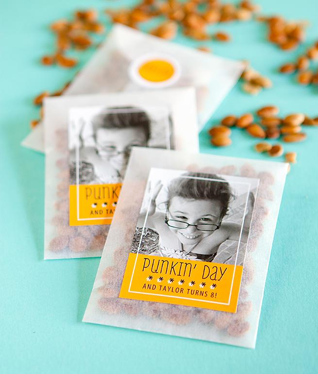 Pumpkin Seeds Halloween Birthday Favor #recipe #homemade #labels #packaging #gift