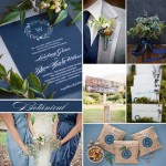 Wedding Inspiration: Botanical in Blue #color #moodboard #evermine #stationery #invitation #favor