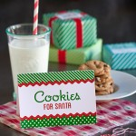 Cookies For Santa + Free Christmas Printables #gift #tags