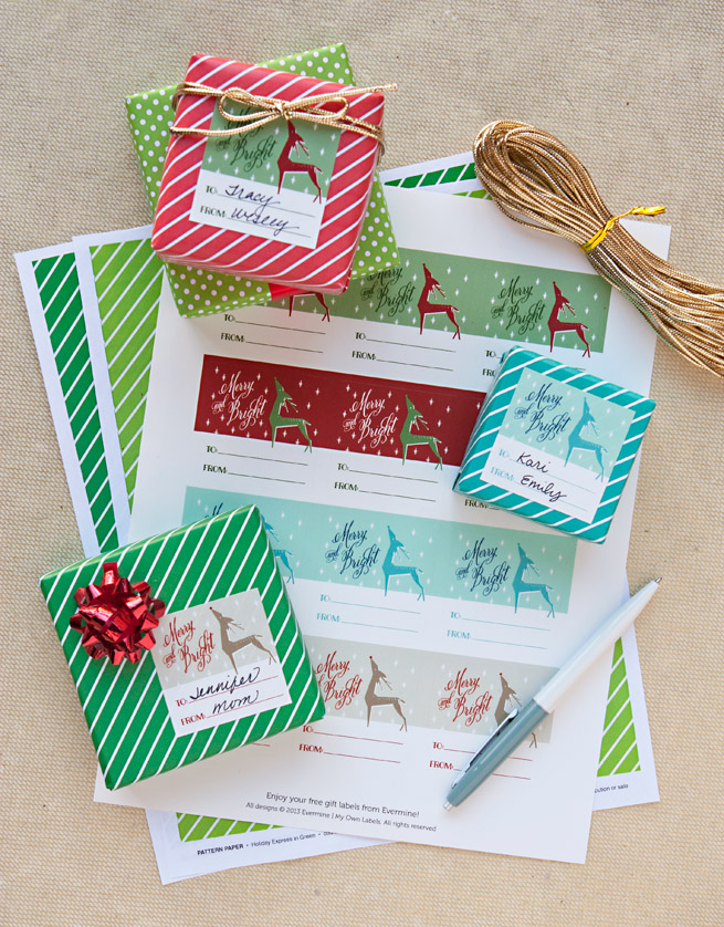 Get these reindeer gift labels FREE when you purchase $50 or more from Evermine/My Own Labels!