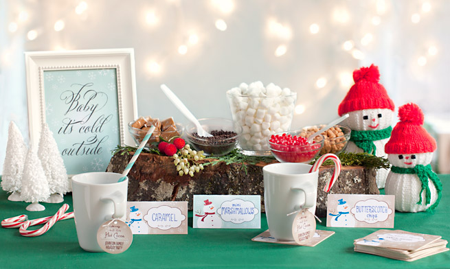 Hot Cocoa Bar #holiday #party #drink #kids #christmas