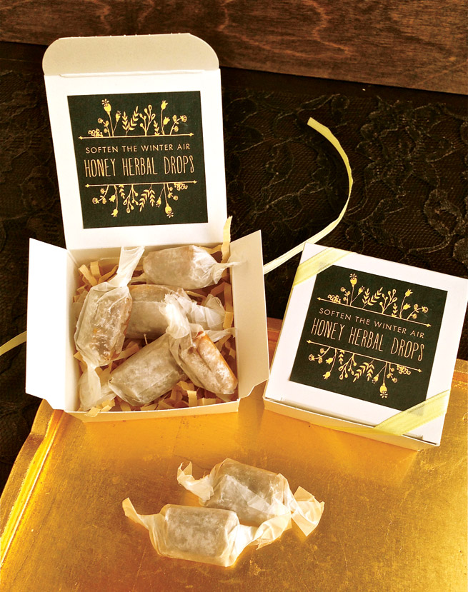 Homemade Honey Herbal Cough Drops #health #diy