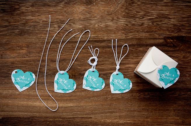 Plantable Paper Heart Favors #diy #wedding #gift #packaging