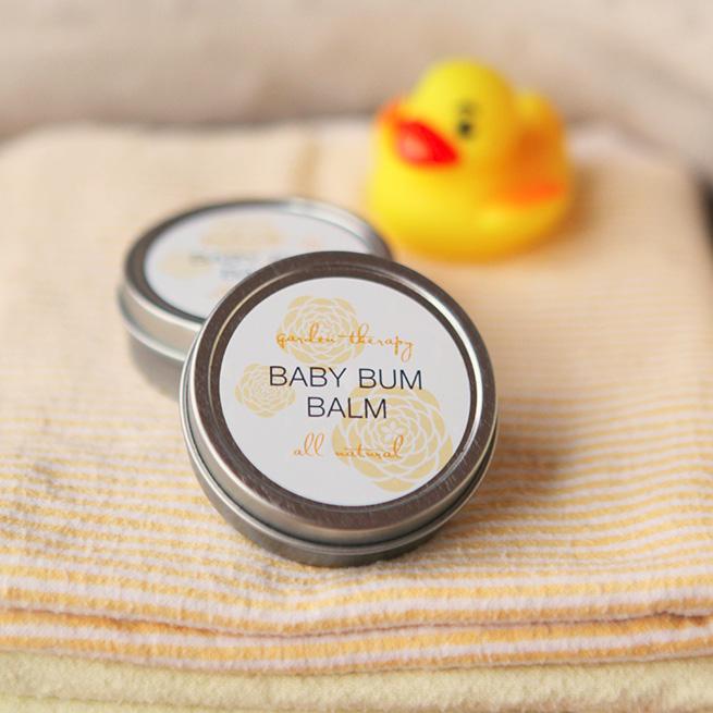 DIY Baby Bum Balm #homemade #baby #labels