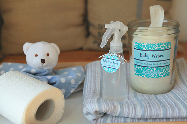 DIY All-Natural Baby Wipes #tutorial #baby #homemade
