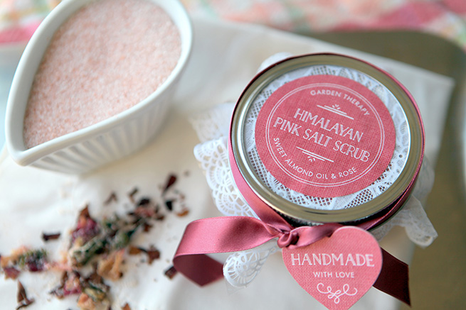 Himalayan Pink Salt Scrub #beauty #bath #diy #homemade