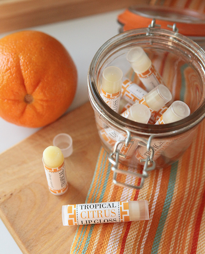 DIY Tropical Lip Balm #bathbody #homemade #beauty #cosmetics
