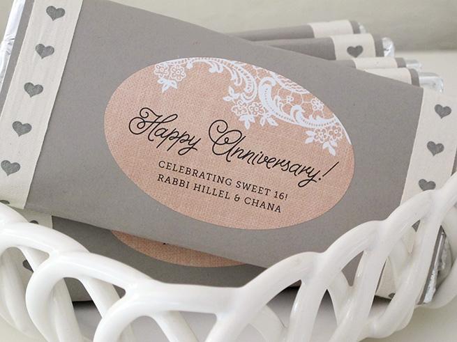 Anniversary Chocolate Bar Favors