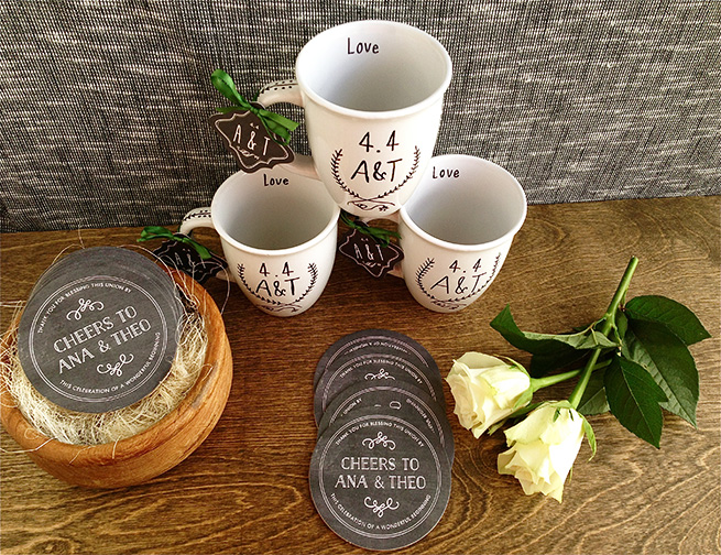 DIY Sharpie Mugs #handmade #favors #tags #wedding