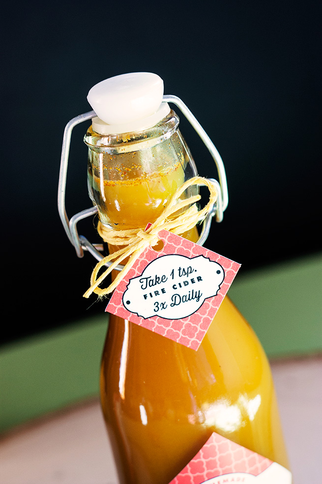 Fire Cider Recipe #tags #labels #beverage #healthy