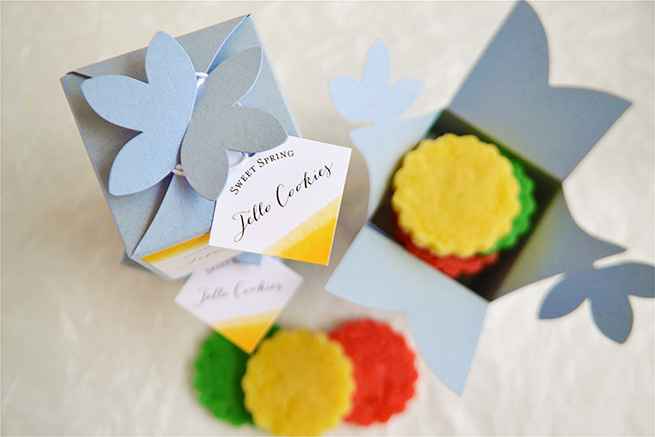 Homemade Jello Cookies #labels #packaging #color #gift #recipe