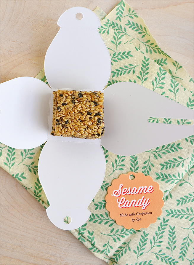 Sesame Seed Candy #recipe #homemade #packaging #tags #labels #giftbox
