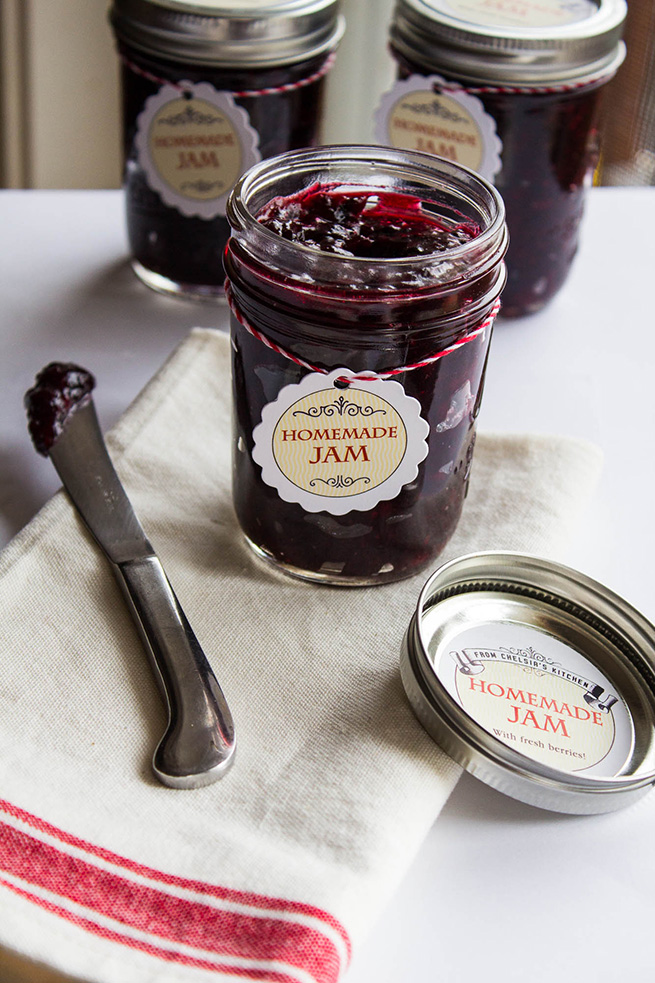 Homemade Marionberry Jam #recipe #gift #preserving #tags
