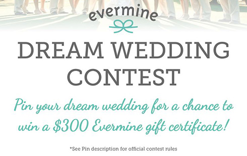 Enter the Dream Wedding Contest On Pinterest!