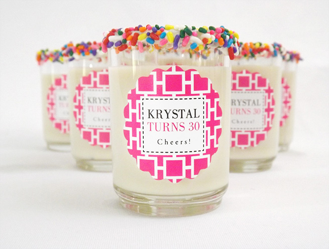 DIY Birthday Cake Shots #alcohol #pink #beverage #labels