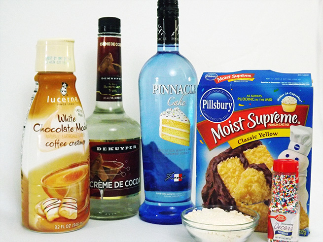 Birthday Cake Shots #ingredients #recipe
