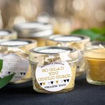 Modern Geometric Wedding: DIY Citronella Candle Wedding Favors