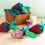 Handsewn Strawberry Pincushions