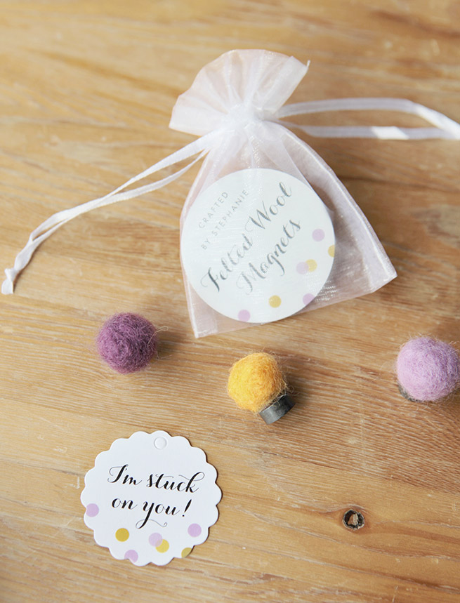 DIY Felted Wool Magnets Tutorial