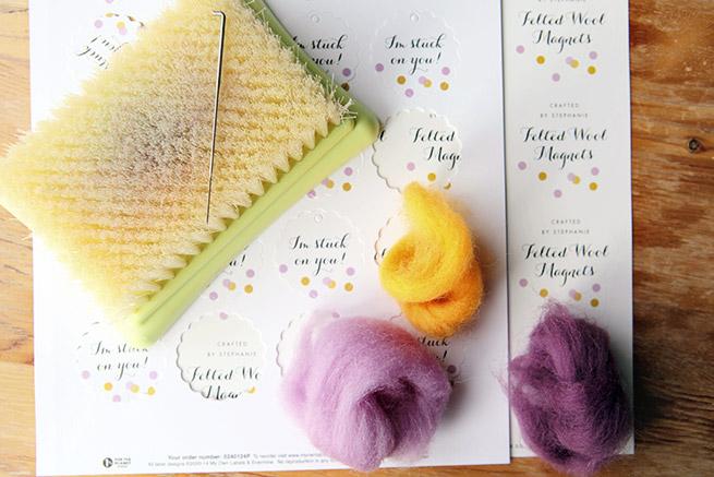 DIY Felted Wool Magnets Tutorial