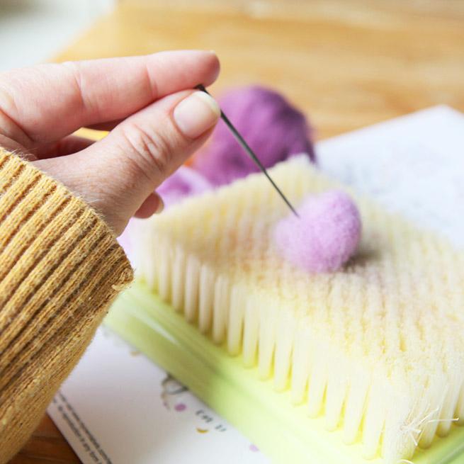 DIY Felted Wool Magnet Tutorial