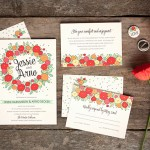 Summer Poppy Wedding Invitations and Stationery