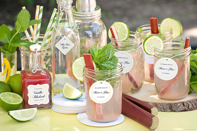 Saturday Sips! Rhubarb Mojitos