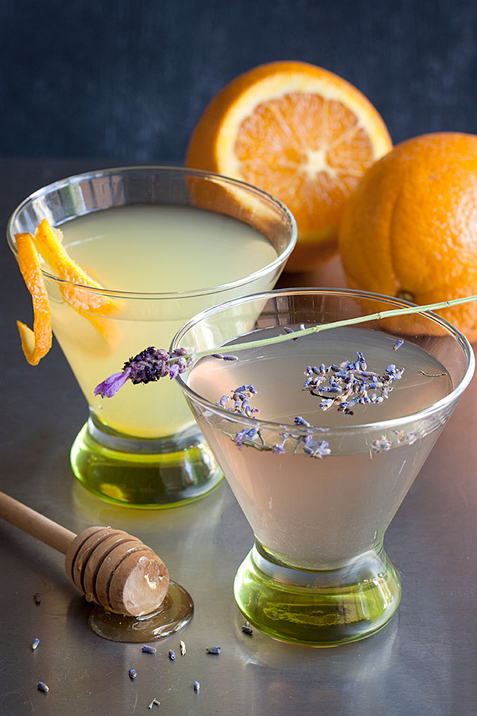 Saturday Sips! The Bee's Knees with Lavender and Orange-Infused Gin
