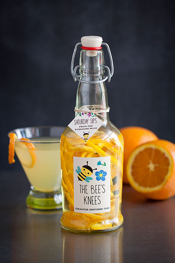 Saturday Sips! The Bee's Knees with Orange-Infused Gin
