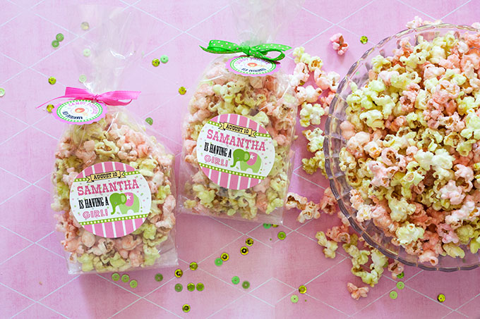 circus baby shower candy popcorn favors evermine occasions