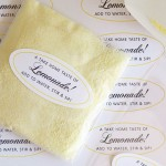 Individual Lemonade Packets with Personalized Labels from Evermine {www.evermine.com}