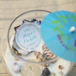 How to make DIY beach candle centerpieces #wedding #party #nautical #labels