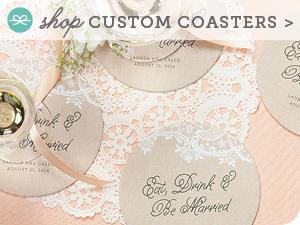 http://www.evermine.com/wedding_coasters/